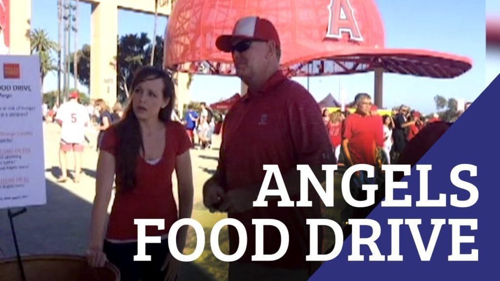 Angels Step up to the Plate to Help OC Food Bank