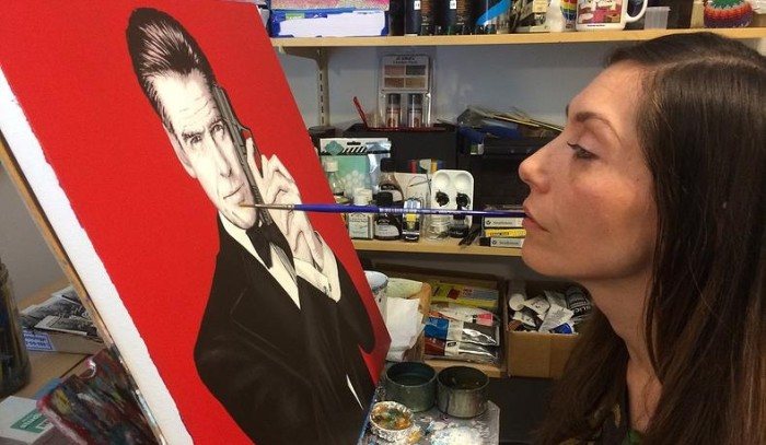 Artist Paralyzed by Gun Violence Catches the Attention of Pierce Brosnan