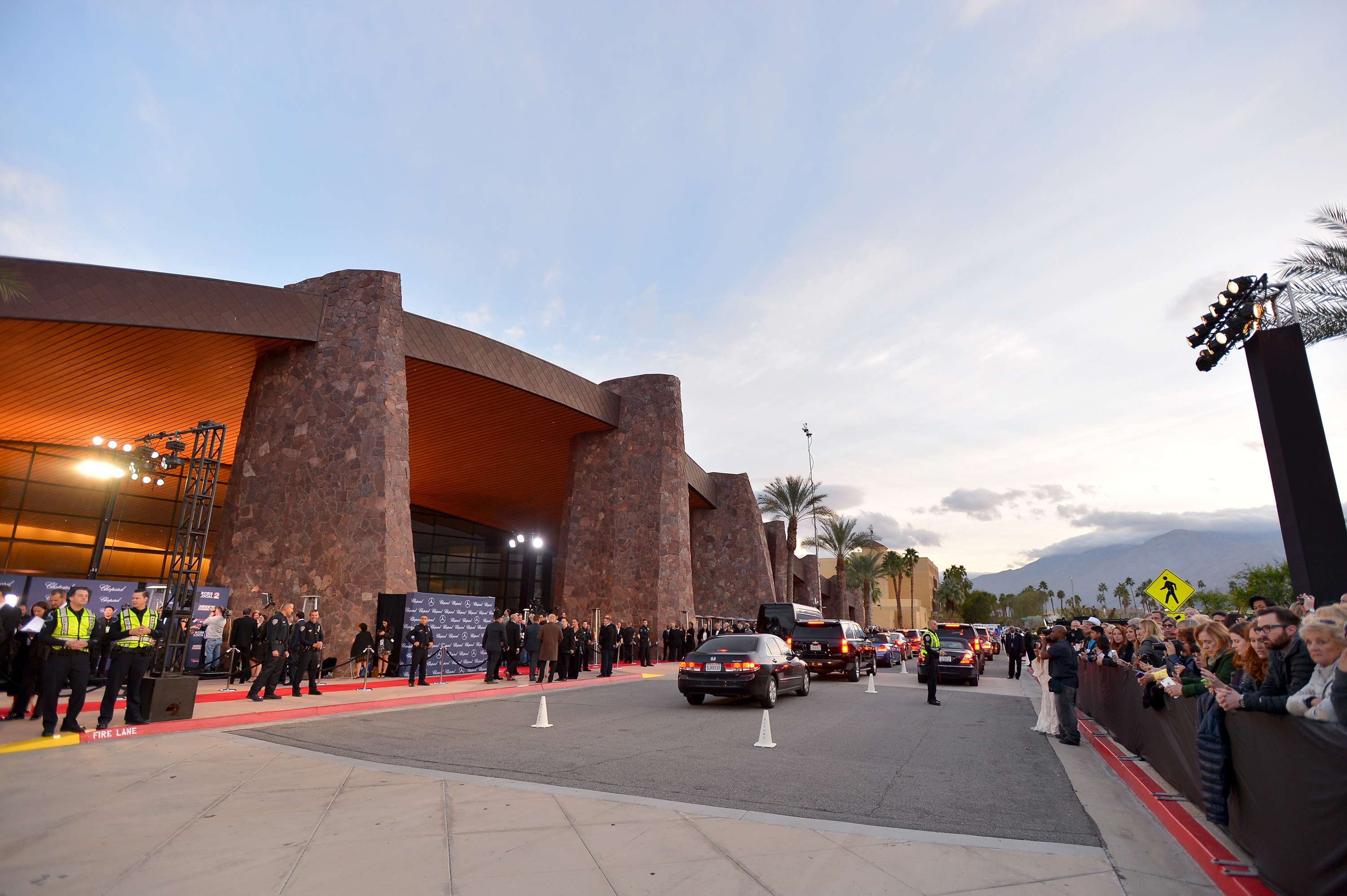 PALM SPRINGS, CA - JANUARY 02: The pre-show atmosphere as seen outside the 28th Annual Palm Springs International Film Festival Film Awards Gala at the Palm Springs Convention Center on January 2, 2017 in Palm Springs, California. (Photo by Charley Gallay/Getty Images for Palm Springs International Film Festival)