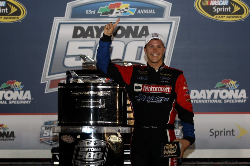 Trevor Bayne makes history at the Daytona 500 and keeps up with the sport's physical demands