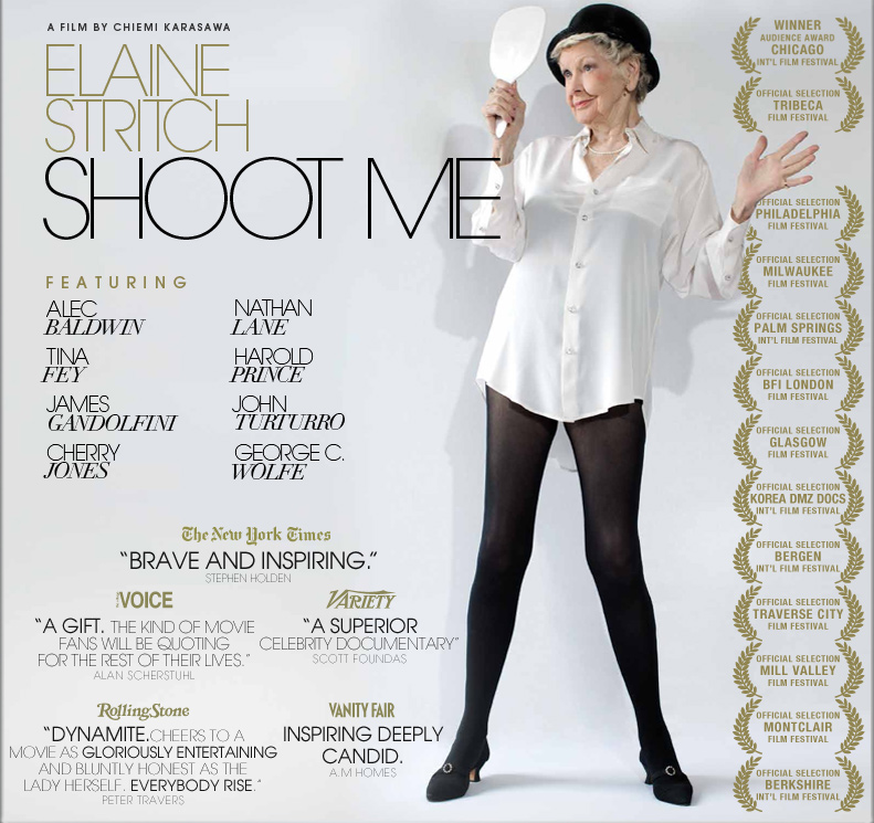 "Follow the unique life of the late Elaine Stritch in her documentary ""Elaine Stritch: Shoot Me"""