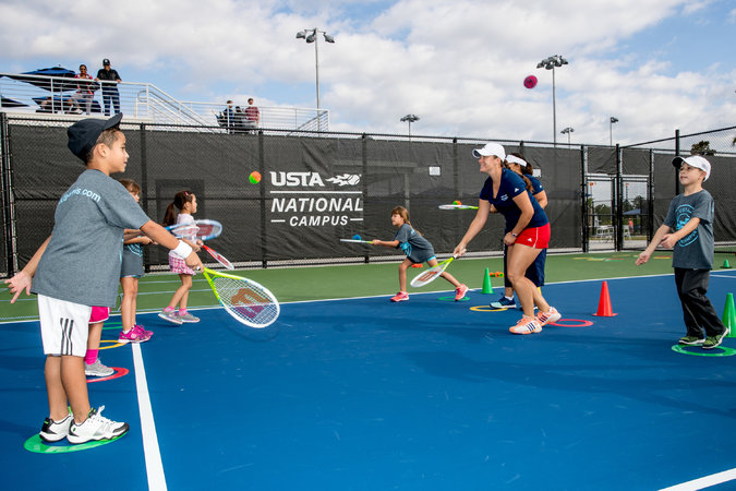 The United States Tennis Association refurbishes thousands of tennis courts from coast to coast