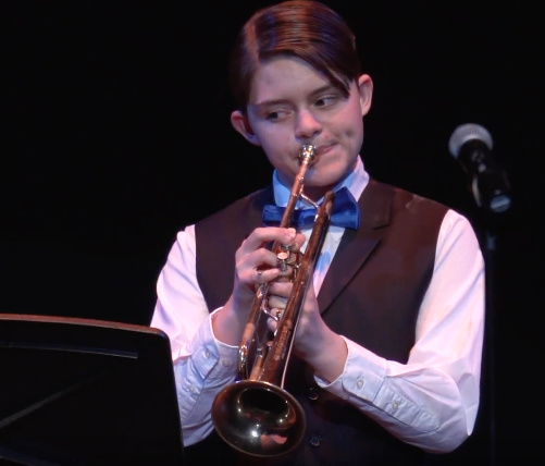 Transgender trumpet player, Jens Briscoe, has been positively changed through the arts