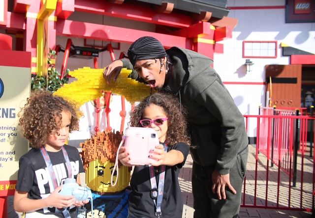Celebrity rapper Nick Cannon took a trip to  LEGOLAND California Resort to check out LEGO NINJAGO World!