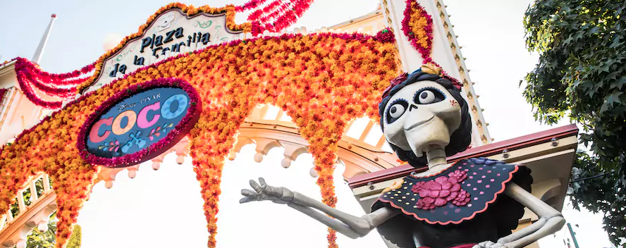 Discover Disney Pixar's New Movie Coco and the Spirit of Día de los Muertos at the Plaza de la Familia