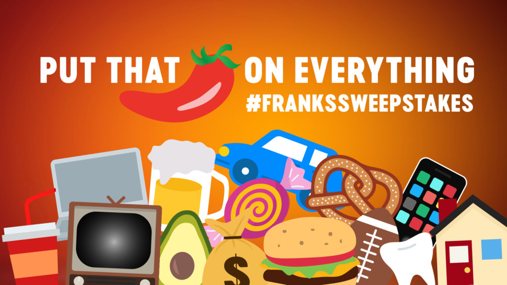 #FranksSweepstakes Lets You Tweet Cayenne Pepper Emojis for Opportunity to Win!!