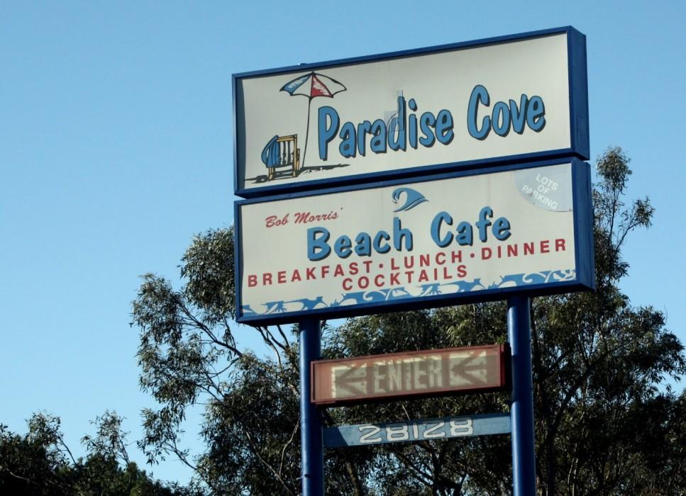 Straw Wars in Malibu Paradise Cove Beach Cafe