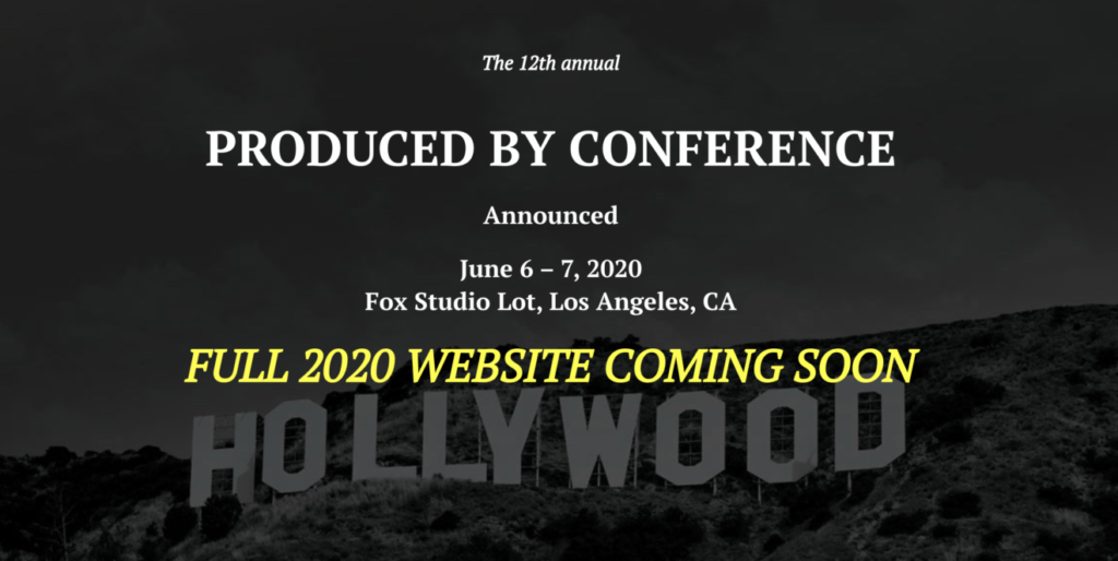 THE PRODUCERS GUILD OF AMERICA 2020 PRODUCED BY CONFERENCE