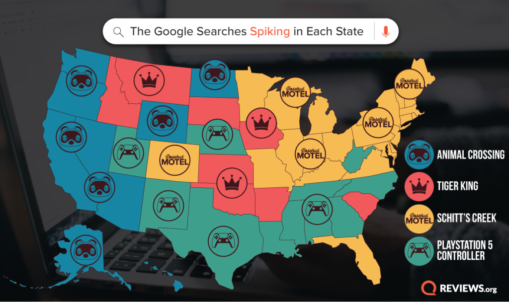 What Your State Is Googling from Quarantine
