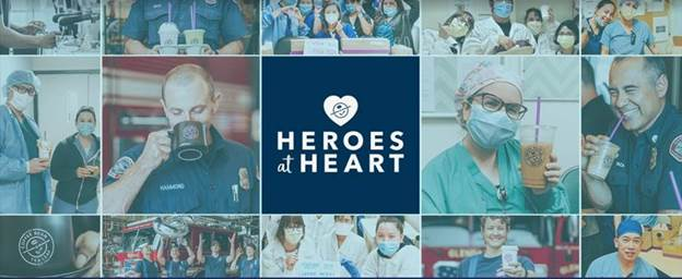 "The Coffee Bean and Tea Leaf ""Heroes at Heart"" Coffee and Tea Launches Online to Benefit Frontline Heroes Amid COVID-19"