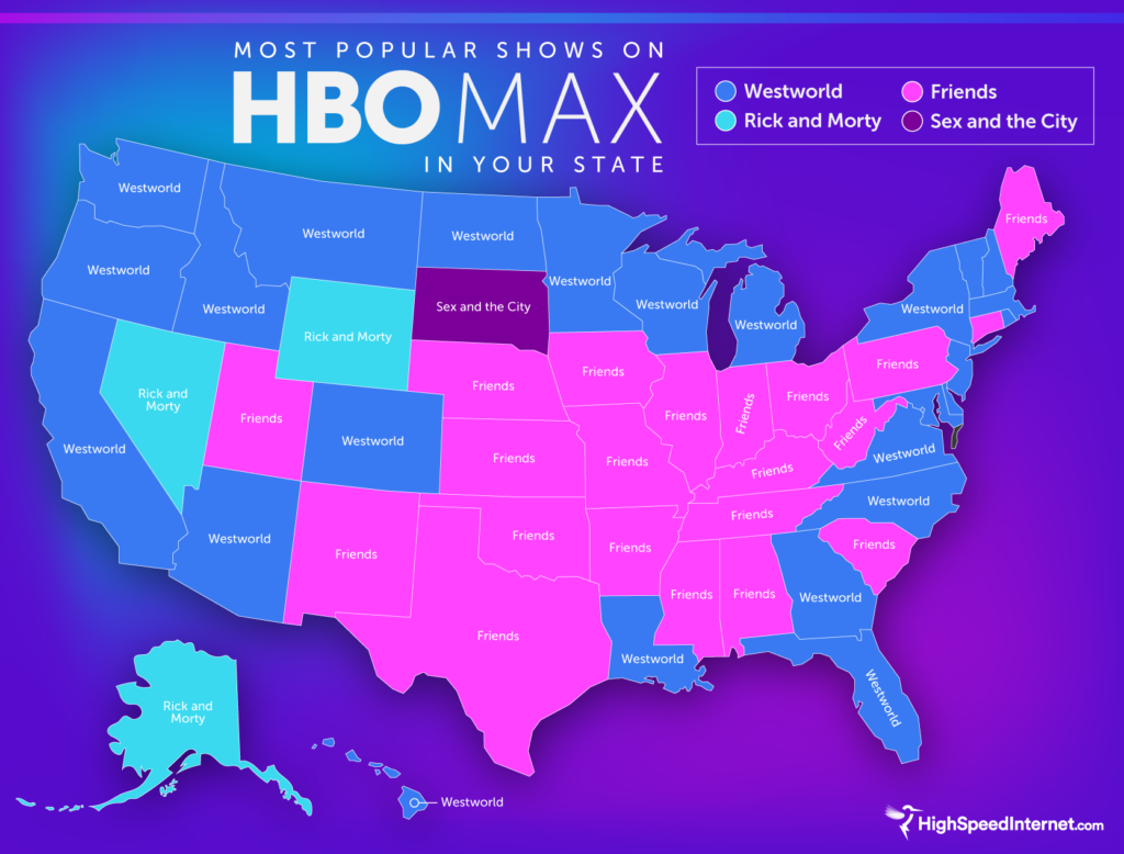 Every state's favorite HBO Max show in 2020 (MAP)