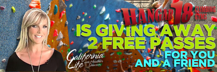Like California Life and WIN Two Passes to Hangar 18 Climbing Gyms!