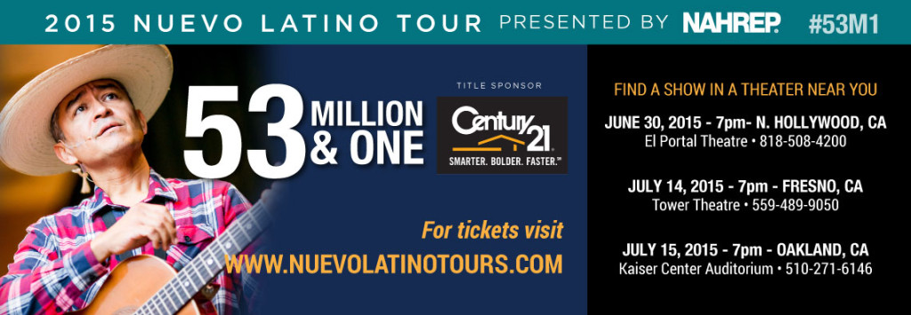 "Nuevo Latino Tour Featuring ""53 Million & One"" California Tour Dates Announced"