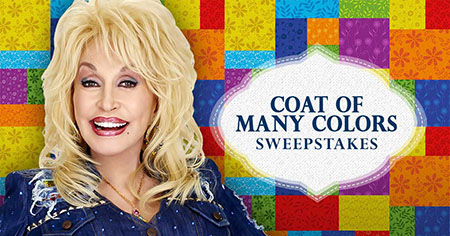 "Win a once-in-a-lifetime getaway in Dolly Parton's ""Coat of Many Colors"" sweepstakes!"
