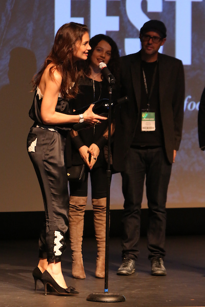 Katie Holmes attends the Awards Ceremony at the Lincoln Theater. Courtesy of PictureGroup for Napa Valley Film Festival