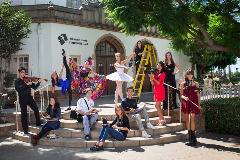 Orange County School of the Arts students celebrate the new San Gabriel Valley Campus with Glee star Matthew Morrison