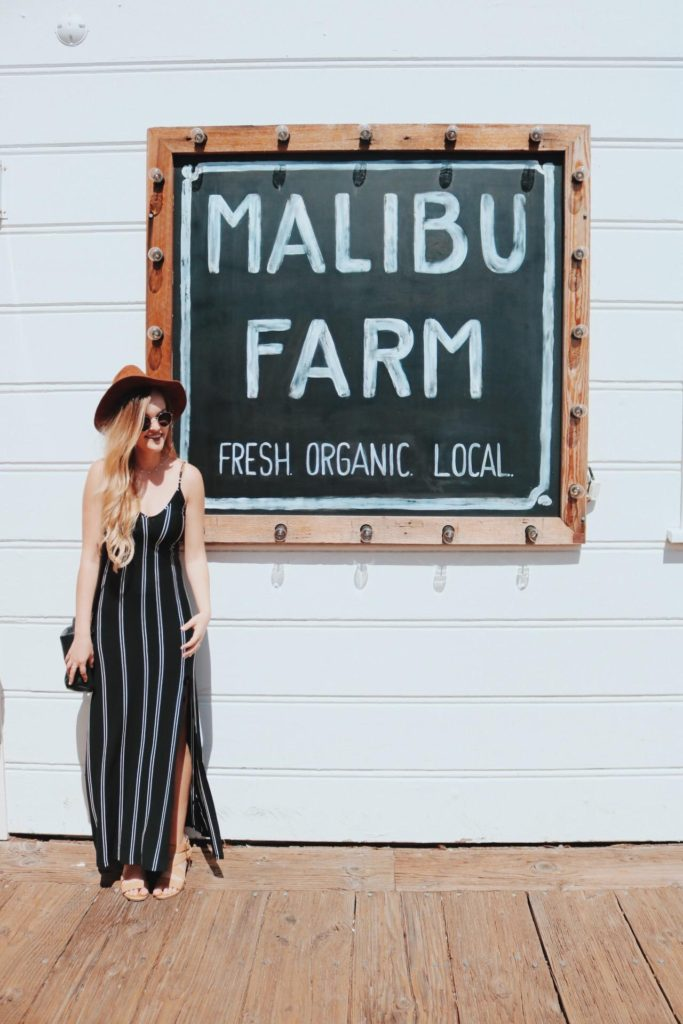 Embrace the SoCal vibes of the Malibu pier-top at organic eatery 'Malibu Farm'