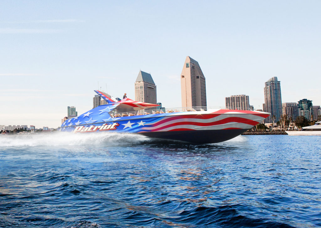 Nothing says freedom like a high-speed boat ride through San Diego Bay