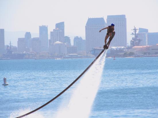 Flyboarding is making a splash in San Diego Bay