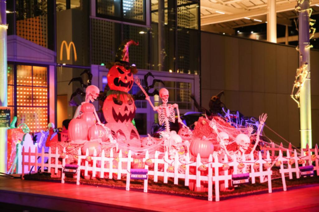 Halloween Light Spectacular at McDonald's Flagship Restaurant in Chicago