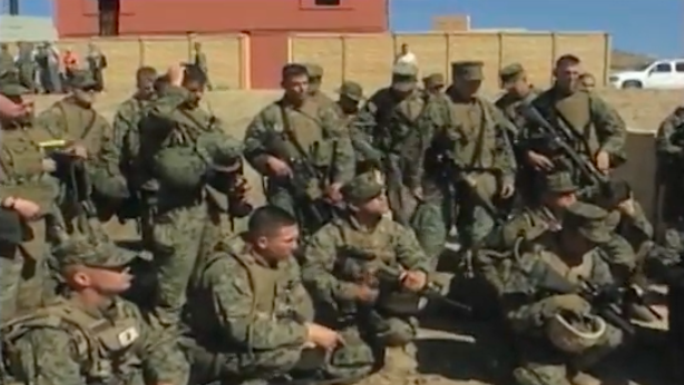 Camp Pendleton Soldiers Learning New Combat Hunter Technic