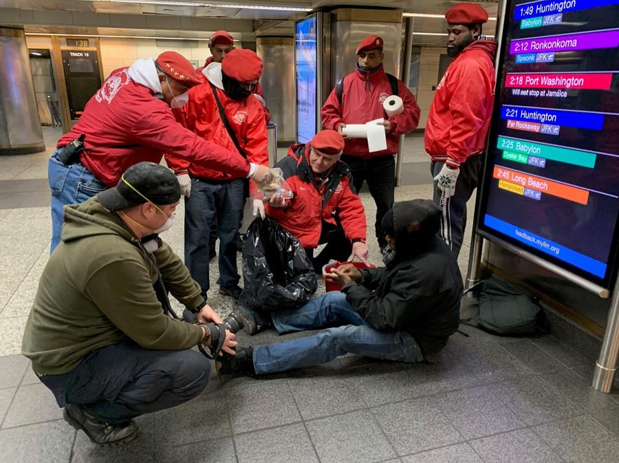 Guardian Angels Care for NYC Homeless Amid COVID-19