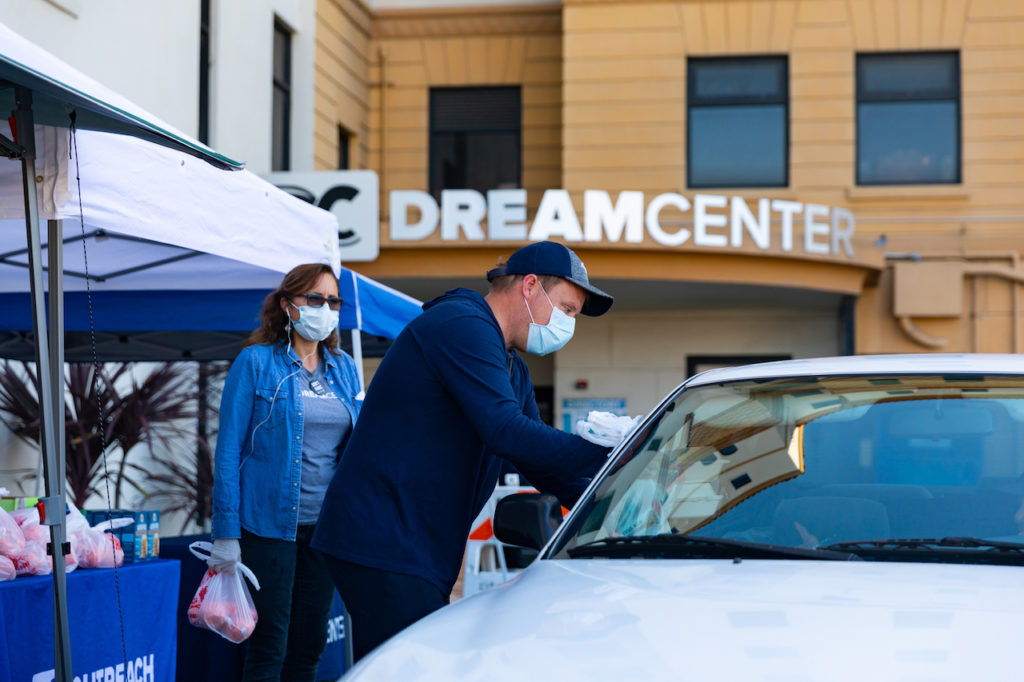 The Los Angeles Dream Center has served 300,000 meals to families in need during COVID-19 shutdown