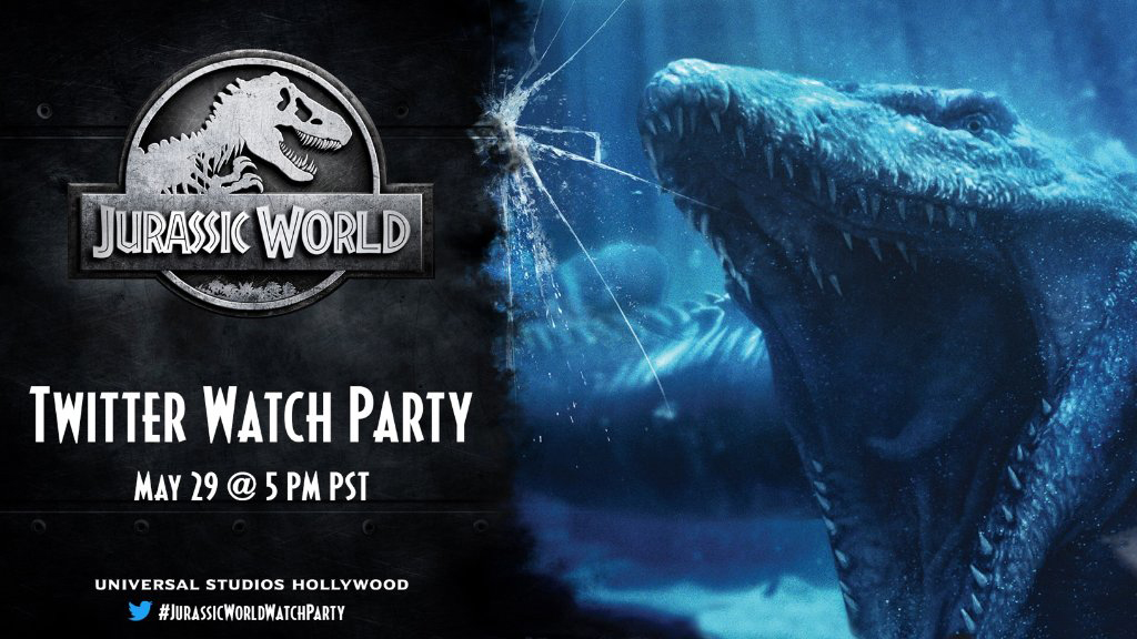 Universal Studios Hollywood Celebrates National Dinosaur Daywith a JURASSIC WORLD Watch Party on Twitter