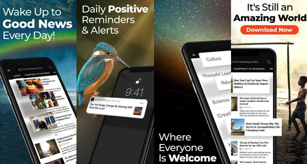 New Daily Dose of Good News Mobile App Launch from Harvard Grad Liesl Ulrich: Ever Widening Circles