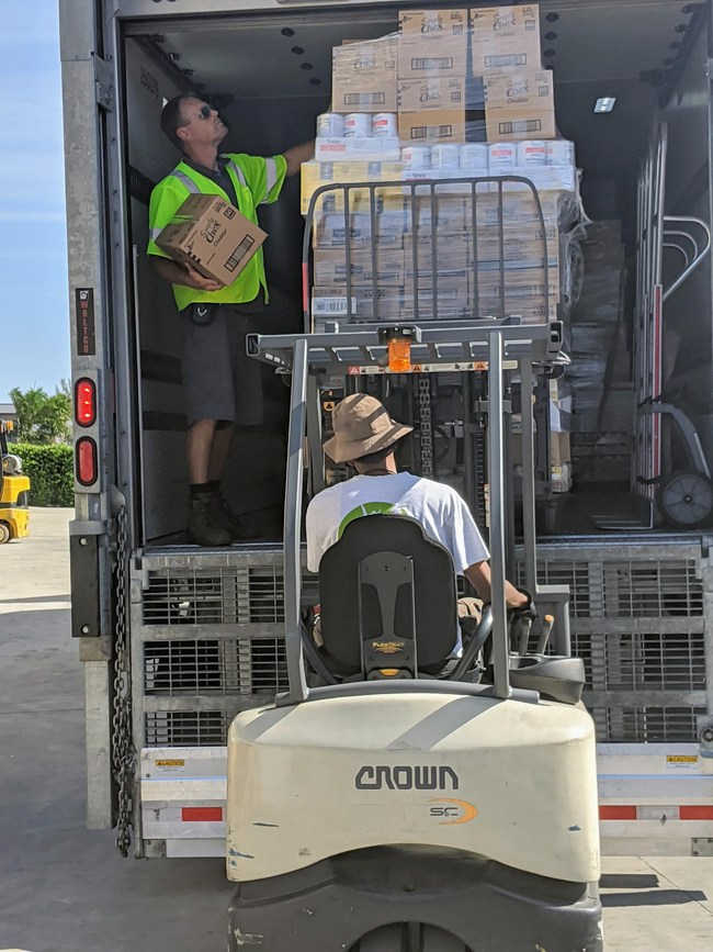 Four Local Families Contribute 50 Tons of Food To Palm Beach Food Bank