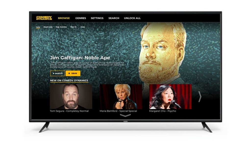 Comedy Dynamics Now Available on VIZIO SmartCast® Televisions
