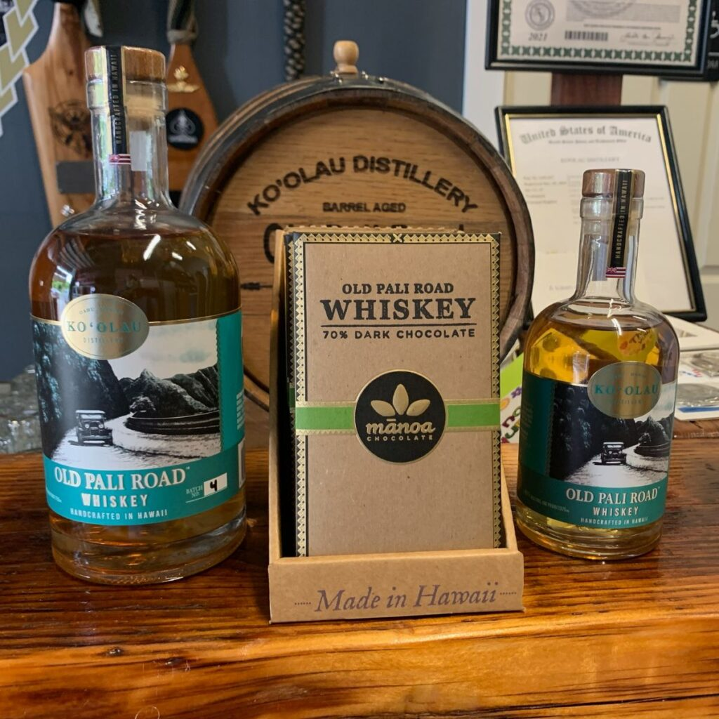 From Bottles to Bars: Hawaii's Old Pali Road Whiskey Can Now be Eaten… in Chocolate Form