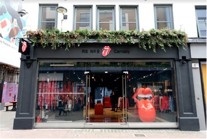 THE ROLLING STONES OPEN 'WORLD EXCLUSIVE' FLAGSHIP STORE IN LONDON ON CARNABY STREET