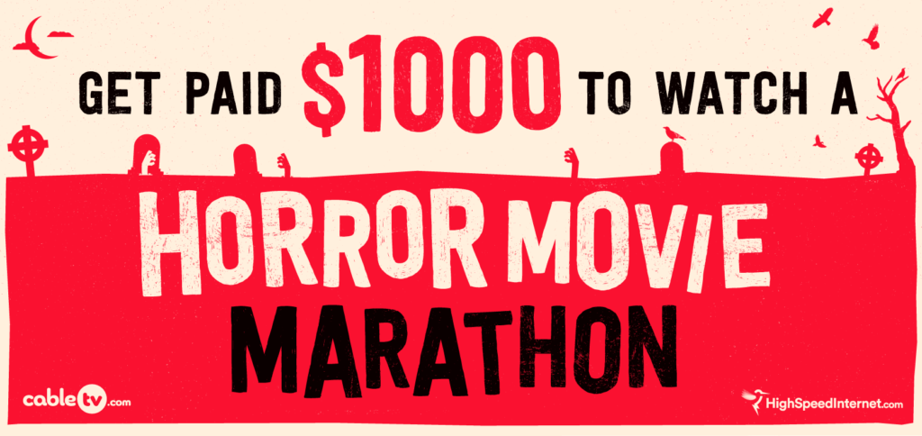 Halloween Challenge: We'll Pay Someone $1,000 to binge 24 hours of Nonstop Horror Movies