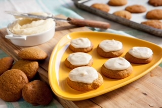 Pumpkin Spice Cookies with a Creamy Brown Butter Icing