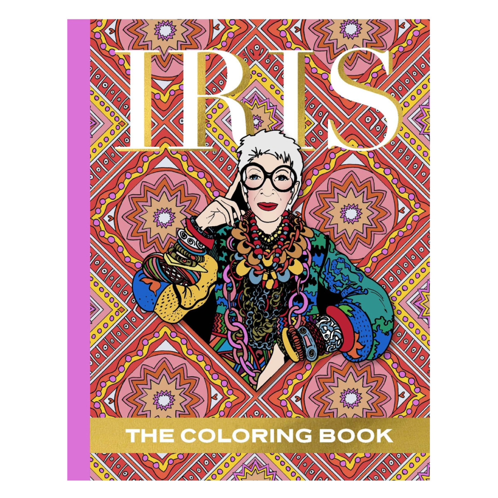 Iris Apfel Coloring Book for Holiday Gift Guide Segments