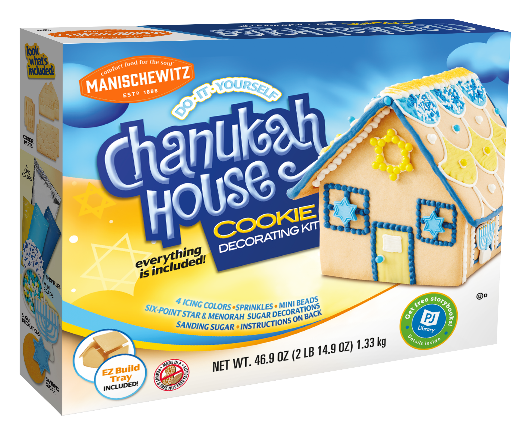 This Festival Of Lights, Manischewitz & PJ Library Invite Families to Build A Sweet New Holiday Tradition With The Chanukah House Cookie Kit, & Encourage Kids Literacy