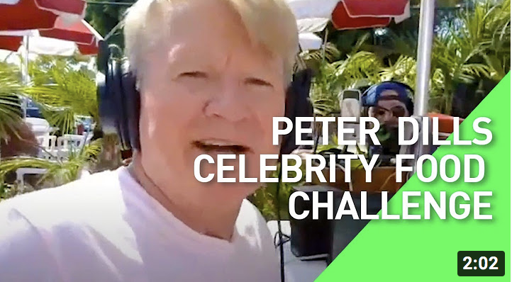 Peter Dill Celebrity Food Challenge