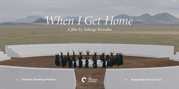 SOLANGE KNOWLES' ART FILM FOR WIGH RELEASED ON THE CRITERION CHANNEL + SPECIAL DIGITAL ACTIVATIONS TO TAKE PLACE