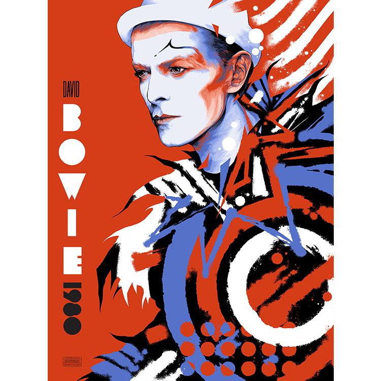 ECHO TO RELEASE KEN TAYLOR'S 'BOWIE 1980' POSTER ON MARCH 26, 2021