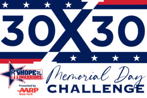 HOPE FOR THE WARRIORS TO HOST MEMORIAL DAY 30X30 VIRTUAL FITNESS CHALLENGE