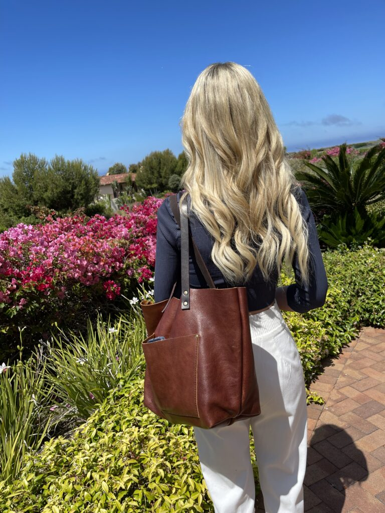 The Perfect Portland Leather Tote For Your Summer Travels